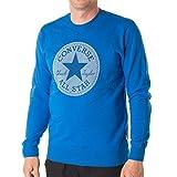 Converse Herren Pullover Microdot Chuck Patch Crew Bright Blue (blau), Größe:L