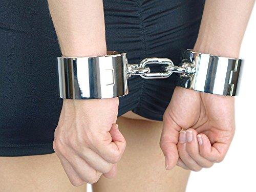 Schwere high quality luxus chrom Handschellen Handeisen schwer (Handeisen für Herren)