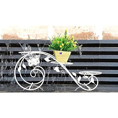 Continental in ferro battuto fiore multistrato cremagliere balcone Soggiorno in ambienti chiusi Spider Pianta verde (Stand Livello Ferro Battuto Impianti)