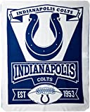 Officially Licensed NFL Marquis Fleece Throw Blanket - Indianapolis Colts