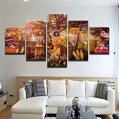 5 Stück HD Gedruckt Leinwanddrucke Moderne Leinwand Malerei Halloween Cartoon Theme Park Wohnkultur Wandbild Poster Kunst Mit Raumdekor