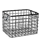 CRS-ZBBZ Schwimmende Regale Kreativ Aufbewahrungskorb Metall Vorratsbehälter Küche Badezimmer Aufbewahrungsbox Kleinigkeiten Veranstalter 36x26x24.5cm