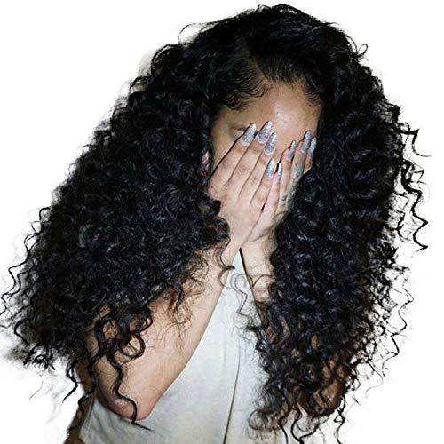 Tief Curly-Spitze-Frontmenschenhaar-Perücken für Frauen brasilianischer Haar-Spitze Frontal Perücke, 16inches