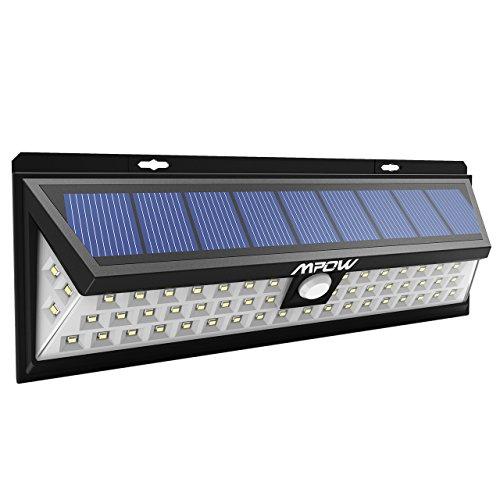54 LEDs Lámparas Solares Mpow de Foco Solares LED 800lm, Iluminacion Exteriores...