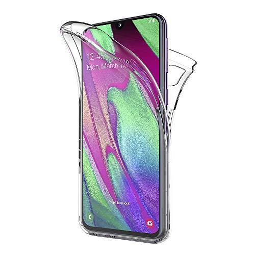 AICEK Compatible Samsung Galaxy A40 Hülle, 360°Full Body Transparent Silikon Schutzhülle für Samsung A40 Case Durchsichtige TPU Bumper Galaxy A40 Handyhülle (5,9 Zoll) -