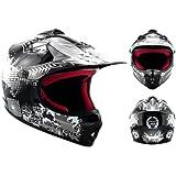 ARROW AKC-49 Black · Kids Pocket-Bike Enduro Cross casque pour enfants MX Cross-Bike Kids Helmet Sport Junior · ✔ DOT certifiés ✔ y compris le sac de casque ✔ Noir · XS (51-52cm)