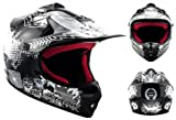 Armor · AKC-49 'Black' (black) · Cross casque pour enfants · Kids Cross-Bike MX Pocket-Bike Enduro Sport · DOT certifié · Click-n-SecureTM Clip · Sac fourre-tout · XS (51-52cm)