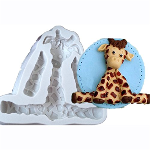 Chinget Silikon Fondant Schokoladenform Cartoon Giraffe Form DIY Backform Tortendeko Kuchen Dekor...