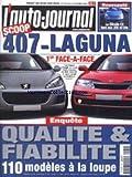 AUTO JOURNAL (L') [No 579] du 18/10/2001 - LA CITROEN C3 FACE AUX 206 ET CLIO - 407 - LAGUNA - QUALITE ET FIABILITE.