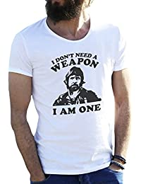 Friendly Bees Chuck Norris I Am One Camiseta Para Hombre