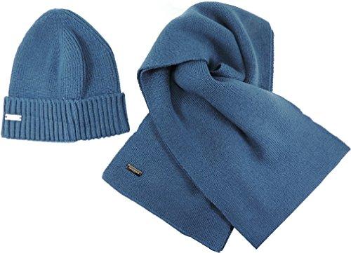 LAURA BIAGIOTTI Set Inverno 2pz uomo CAPPELLO + SCIARPA in Scatola completo lana confezionato