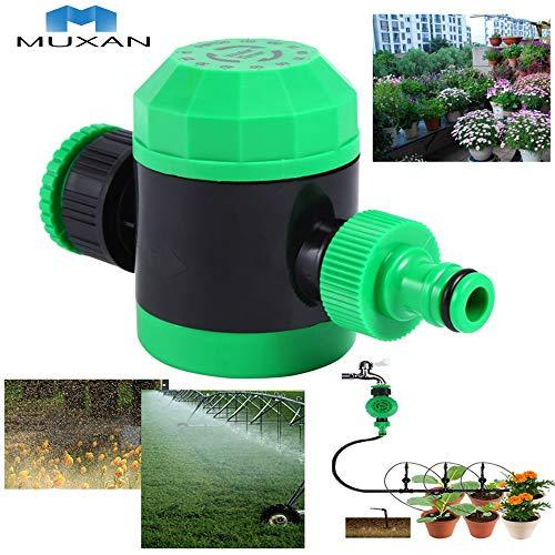 MUXAN - Aspersor para riego por Control automático mecánico del Agua con Temporizador, Manguera Flexible...