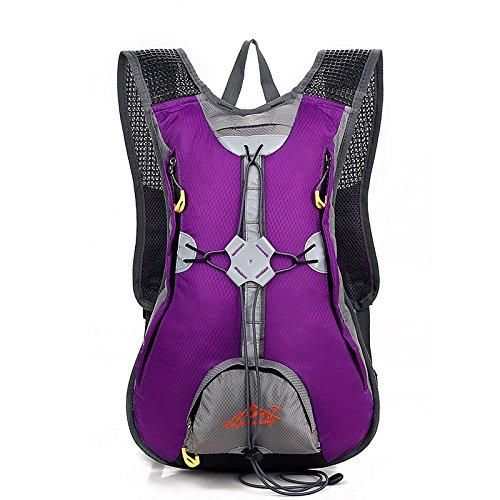 MASLEID Männer und Frauen Reiten Fahrrad Rucksack Outdoor-Taschen wasserdichte Abdeckung Wasser Helmtasche Purple