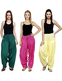 Mango People Products Combo Rama Green, Pink ,Off White 3 Colours Womens & Girls Solid Cotton Mix Best Indian...