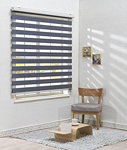 Foiresoft Store occultant à lames horizontales pour fenêtre 260 x 260cm Taille personnalisable, polyester & polyester mélangé, vert sapin, W190 x H150 (CM)