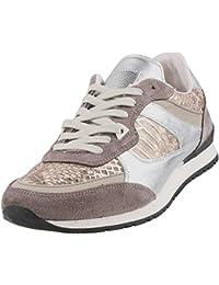 Mustang - Zapatillas de Piel para mujer Gris Grau (Grau/Silber 294)