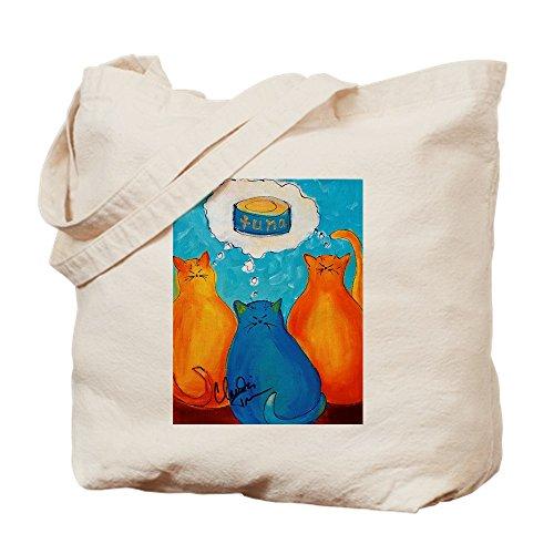 CafePress Tragetasche für Katzen mit Tuna, canvas, khaki, S