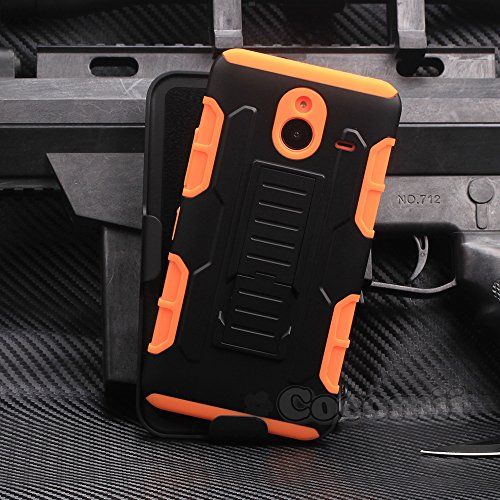 Nokia Lumia 640 XL Hülle, Cocomii Robot Armor NEW [Heavy Duty] Premium Belt Clip Holster Kickstand Shockproof Hard Bumper Shell [Military Defender] Full Body Dual Layer Rugged Cover Case Schutzhülle Nokia (Orange)