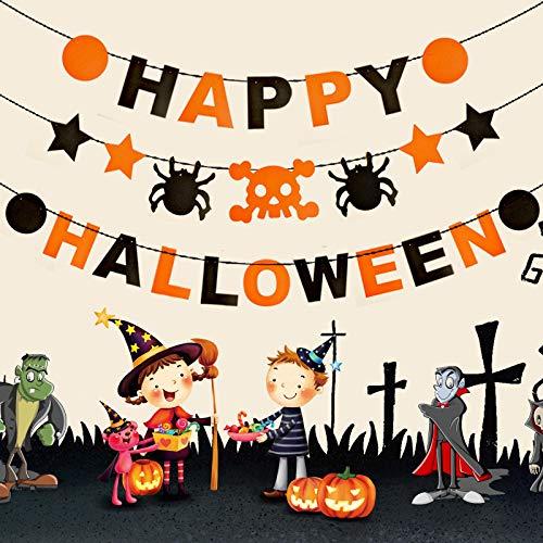 Aeemi elementi decorativi halloween non tessuta flower bat skull pull flag pendant, halloween 19, fai da te set 50g