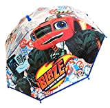Chanos Chanos Blaze and The Monster Machines Manual Dome Transparent Folding Umbrella, 45 cm, Multicolour Parapluie Pliant, Multicolore (Multicolour)