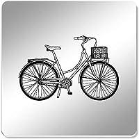 Azeeda 6 x Bicicleta Vintage 95mm Cuadrado Acrílico Espejo Posavasos (CR00139814)