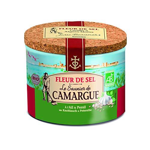 LE SAUNIER DE CAMARGUE Fleur De-Sel Knoblauch Petersilie, 3er Pack (3 x 125 g)