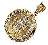 Virgen de Guadalupe con Medalla de San Judas Tadeo Medalla 18K Chapado en Oro con Cadena de 24Pulgadas por diamantados de Florida