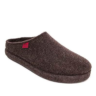 Comodissime Pantofole in Feltro Alpino Marrone.38