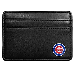 MLB Chicago Cubs Leather Weekend Wallet, Black