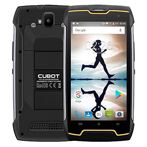 CUBOT Kingkong 2018 Outdoor Handy ohne Vertrag (IP68, Staubdicht, Stoßfest), 5.0 Zoll, 10-Punkt-Touch, MTK6580 Quad-Core, 2GB/16GB 4400mAh, Dual Kamera, Dual SIM, GPS Smartphone (Schwarz)