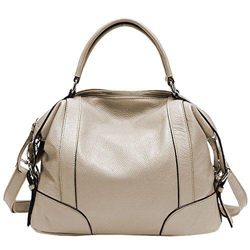 Mena UK Borse in pelle e borse in pelle designer Borse da tasca della borsa della spalla della chiusura lampo Off White