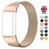 STAY Active Correas de Recambio para Fitbit Charge 2, Reloj Inteligente y Deportivo para Mujer y Hombre | Marca del Reino Unido Correa Milanesa (Oro Rosa, pequeño)