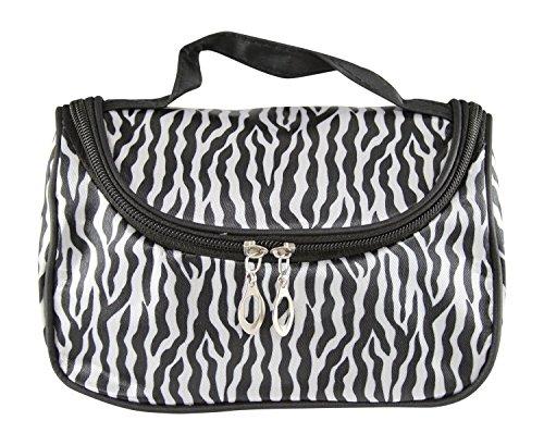 flowerkui Fashion Lady Travel Zebra Streifen Kosmetik Handtasche - Fashion Zebra-streifen