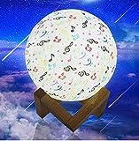 Fernbedienung 3D Mond Nachtlicht Musik Hinweis USB LED Lampe Wohnkultur Geschenk Neu