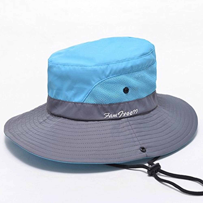 Hongyan Cappello Estivo da Donna Cappellino Estivo da Spiaggia Spiaggia da  con Cappello Largo a Taglio f07e8f1ea712