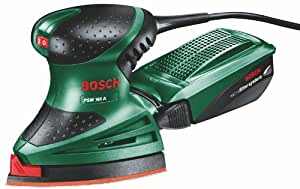 Bosch DIY Multischleifer PSM 160 A, 3 Schleifblätter, Karton (160 W, Schwingzahl 24.000 min-1, Schwingkreis-Ø 1,6 mm)