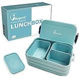 Bugucat Lunchbox, Bento Box Brotzeitbox Auslaufsicher Luftdichte Brotdose mit Fächern, Vesperdose Frühstücksbox Geeignet für