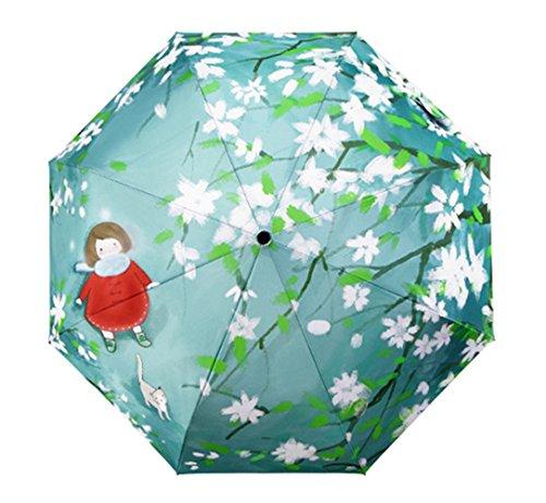 Sport Tent Regenschirm Begonia Blume Design Schirm Taschenschirm, faltbar kompakt Vinyl Sonnenschirm UV-Schutz Test winddicht Taschenschirme Reise-Regenschirm