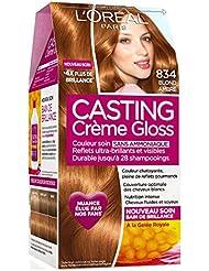 Casting Crème Gloss Ton sur Ton Coloration sans Ammoniaque 834 Blond Ambré