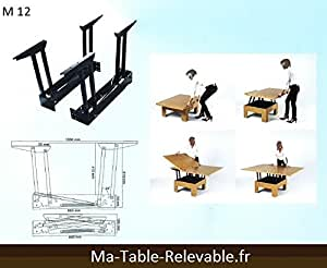 m canisme de plateau relevable pour table basse m12 cuisine maison. Black Bedroom Furniture Sets. Home Design Ideas