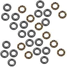 WEONE 7 x 13 x 4,5 mm Acero Plata 3-piezas de precisión