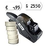 Preisauszeichner Set: Etikettierer Uno C6 für 26x12 inkl. 7.500 HUTNER Preisetiketten weiss permanent | etikettieren | HUTNER