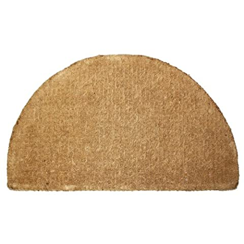 J & M Home Fashions Plain Imperial Half Round Coco Doormat, 20-Inch by 33-Inch