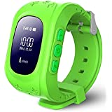 REES52 Kids Smart Watch,Q50 Wrist Watch with Anti-Lost GPS Tracker SOS Call Location Finder SIM Card Slot Remote Monitor Pedometer Smart Watch for Kids (Green)