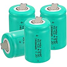 anmas Cable de 4/6/10/12/15pcs Ni-Cd 4/5SUBC 1,2V 1400mAh batería recargable con Tab