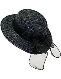EveryHead Fiebig Señoras Sombrero De Paja Verano Playa Equinácea Gorro  Rafia Vacaciones Mujer Uni Con Cinta ab0963acef1