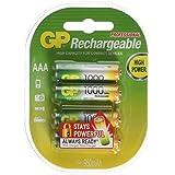 GP Batteries - Nimh Rechargeable Batteries Aaa - Batería/Pila Recargable (930 Mah, Universal, Níquel Metal Hidruro, Ampolla) Multi