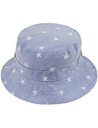 fc46e1a763d4 Bébé Chapeau de soleil Pliable Bob en Coton Printemps Eté Bonnet de Bassin  Seau Motif Etoile Anti-UV Protection…