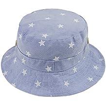 Bébé Chapeau de soleil Pliable Bob en Coton Printemps Eté Bonnet de Bassin  Seau Motif Etoile d46bb4cae55