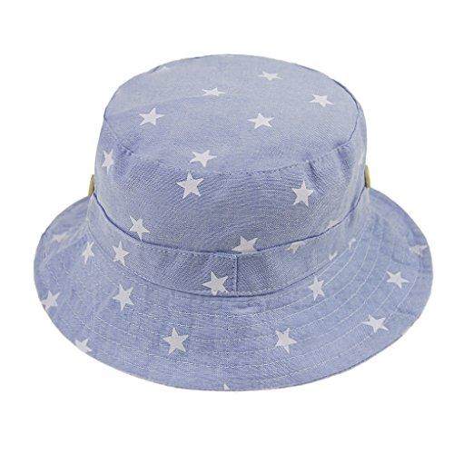 68ea3b94acc7 Bébé Chapeau de soleil Pliable Bob en Coton Printemps Eté Bonnet de Bassin  Seau Motif Etoile